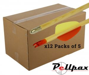 Wooden Arrows 5 Pack - Bulk Box of 12