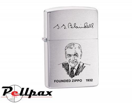 Zippo Founder's Lighter - Brushed Chrome
