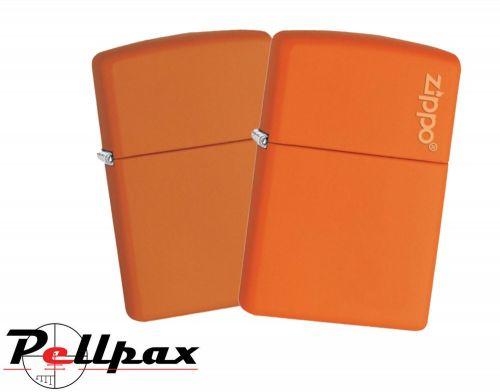 Zippo Orange Matte Classic & w/ Logo